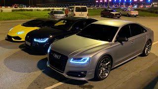 Единственная Audi RS6 седан в России! Audi S8 950 сил! Гонки на Ламбе!
