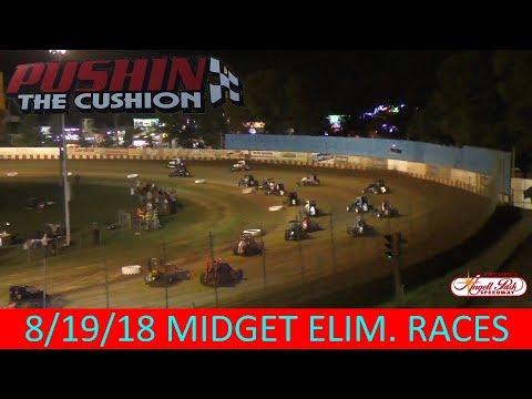 Angell Park Speedway - 8/19/18 - Midgets - Elimination Races
