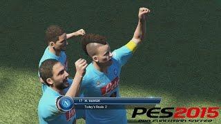 PES 2015 Gameplay PS4 - Napoli - el poder goleador de la cresta de Hamsik!!!