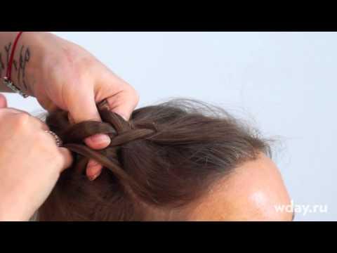 Французская коса наоборот как плести видео