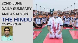 22nd June The Hindu Daily Summary