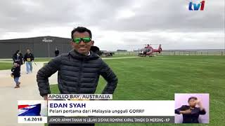 Edan Syah in Berita Nasional RTM1 - Great Ocean Road Running Festival 2018