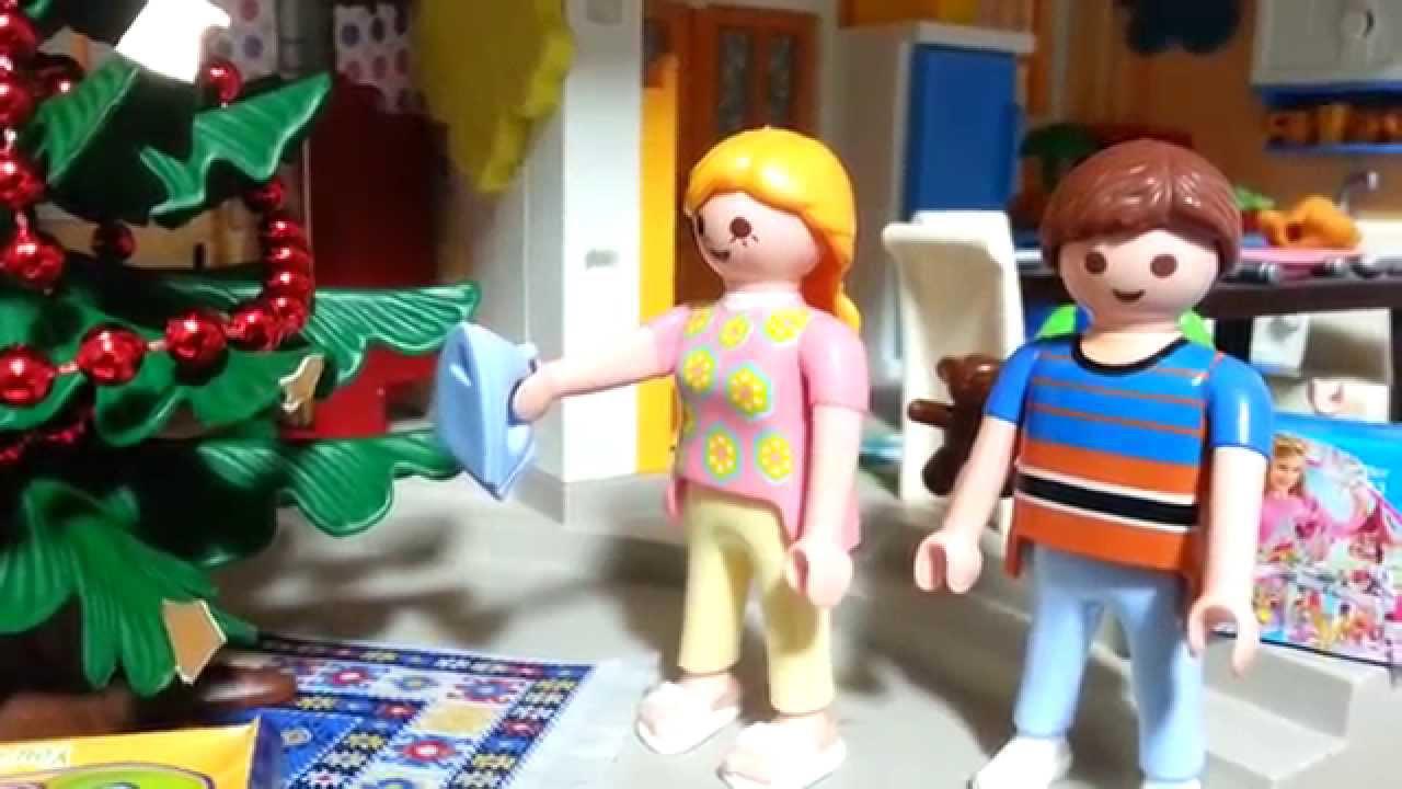 weihnachten feiern mit bescherung playmobil film no l. Black Bedroom Furniture Sets. Home Design Ideas
