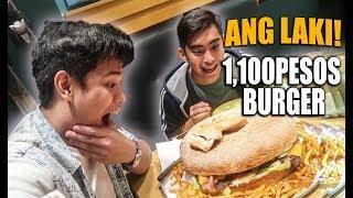 ₱10 Burger Vs ₱1,100 Burger!! **grabe ang laki**