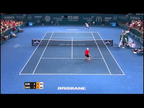 Lukasz Kubot v Sam Groth highlights (2R) - Brisbane International 2015
