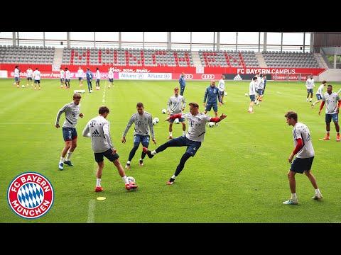 Gnabry, Thiago, Müller & Co. show their skills in Rondo training   FC Bayern