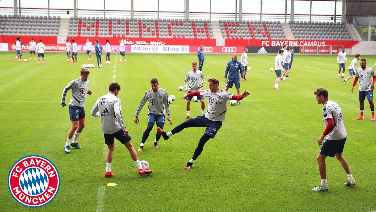 Gnabry, Thiago, Müller & Co. show their skills in Rondo training | FC Bayern