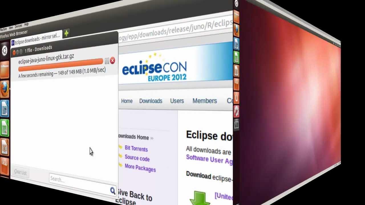 Install eclipse juno ide into ubuntu 12 youtube.