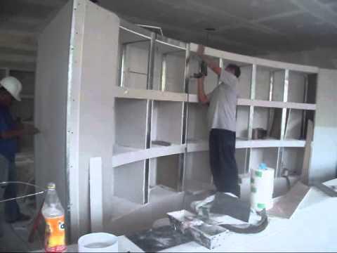 01 muebles de tablaroca 40 youtube for Como hacer muebles para sala