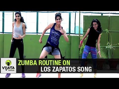 Zumba Routine on Los Zapatos Song | Zumba Dance Fitness | Choreographed by Vijaya Tupurani
