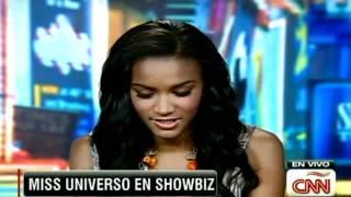 Entrevista con la miss Universo Leila Lopes en Showbiz