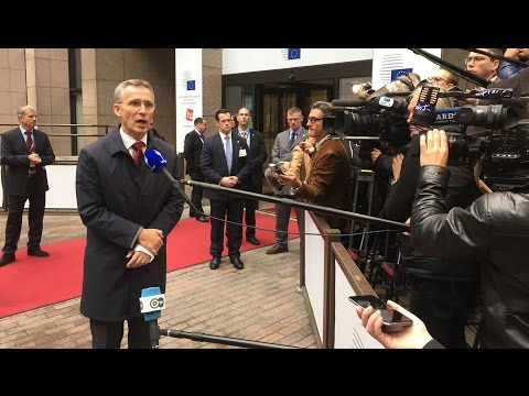 NATO Secretary General - Doorstep statement at the European Council, 17 NOV 2015