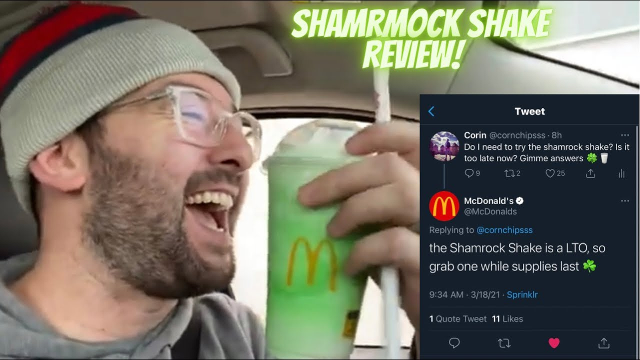 What I Eat In A Day | Shamrock Shake Review