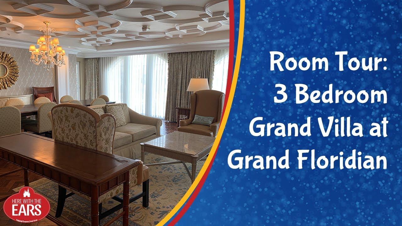 Grand Floridian 3 Bedroom Grand Villa Room Tour Youtube