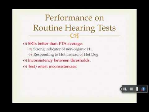 Chapet 12: Non-organic Hearing Loss