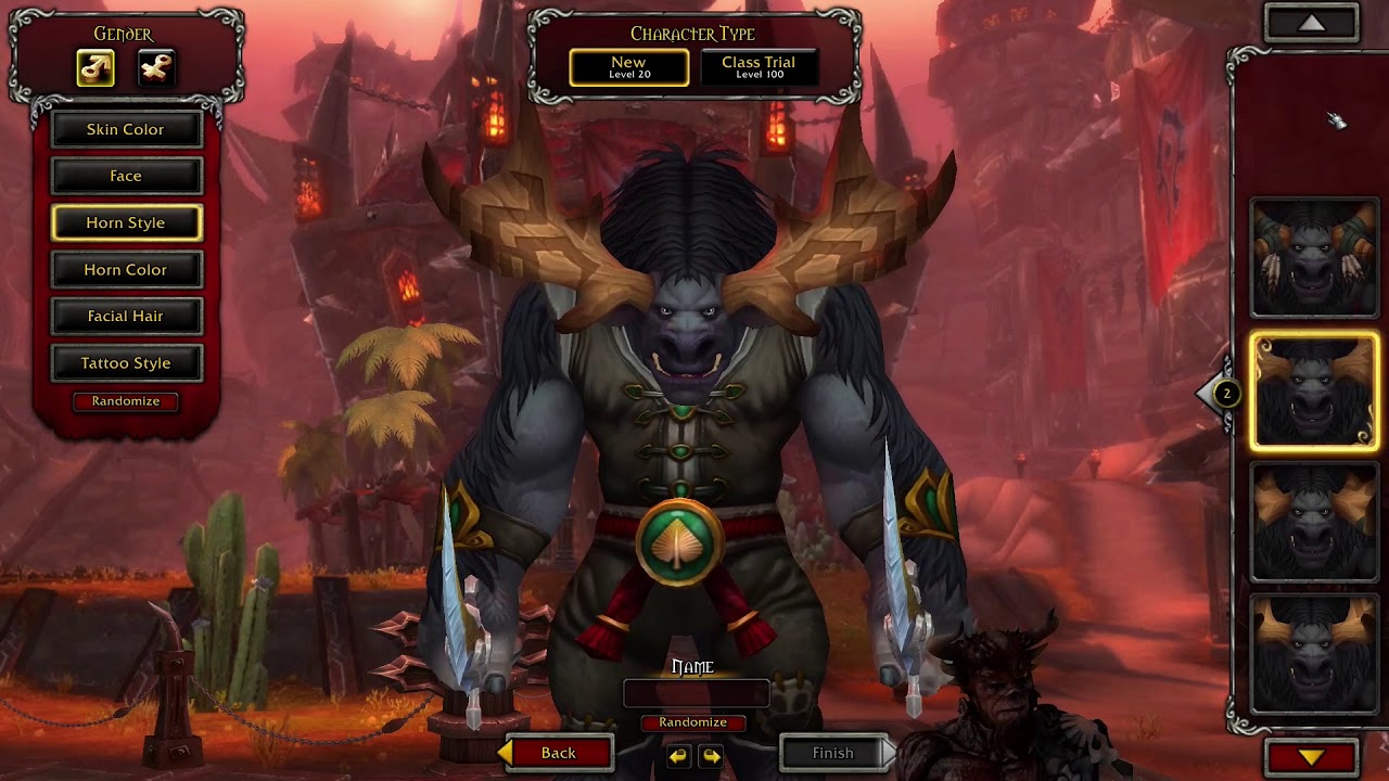 Battle for Azeroth Horde Allied Races Character Creation | World of  Warcraft (WOW) BFA 8 0