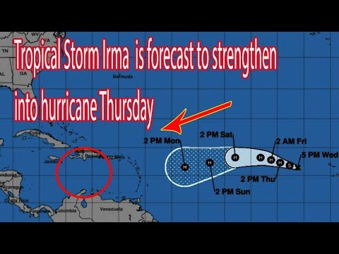 Tropical Storm Irma  is forecast to strengthen into hurricane Thursday - Daily News