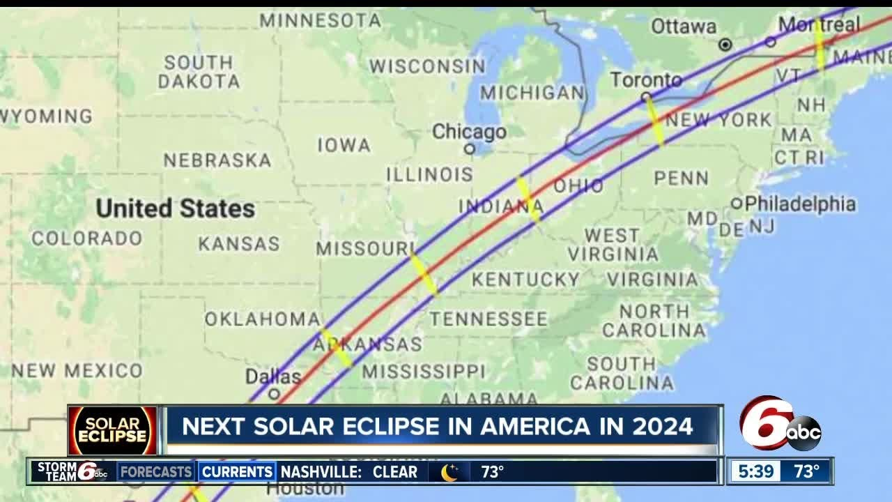 Indianapolis Is In The Path Of The Next Total Solar Eclipse Youtube