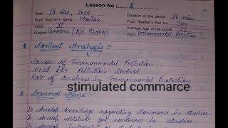 Lesson plan 5 simulated teaching commerce file B.Ed 2nd year Naveen Dahiya