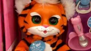 "ANIMAL BABIES NURSERY ""Baby Tiger"" Talking Eating Soft Baby Animal Toy / Toy Review"