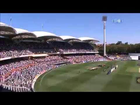 Tribute to Phillip Hughes at first test Australia vs India, 2014