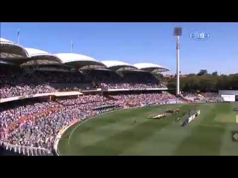 Tribute to Phillip Hughes at first test Australia vs India, 2014