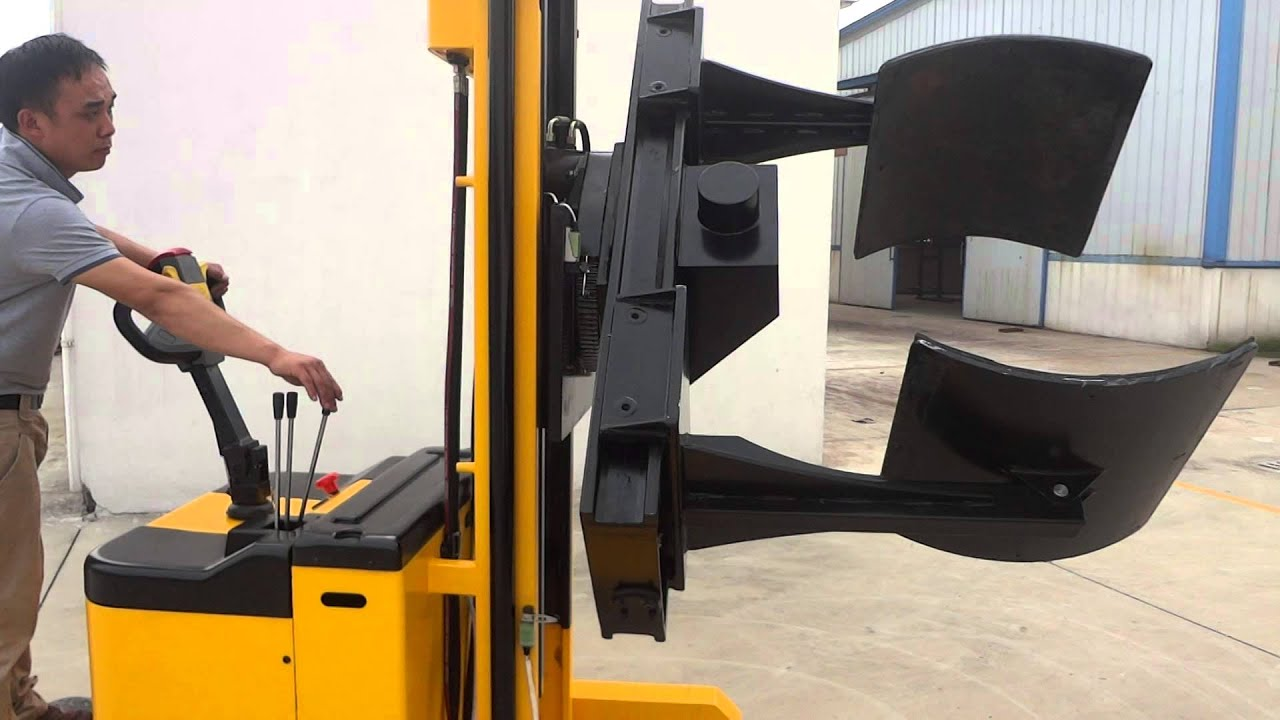 Electric Paper Roll Clamping And Fliping Stacker Youtube