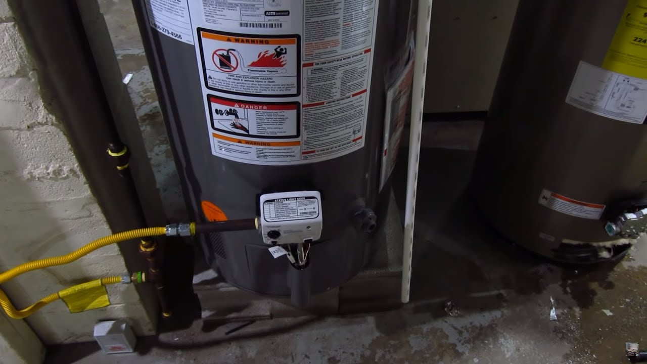 Gas Power Vent Water Heater Wiring Diagram 42 Ge Rheem Model Xg40s09he38u0 Review Youtube