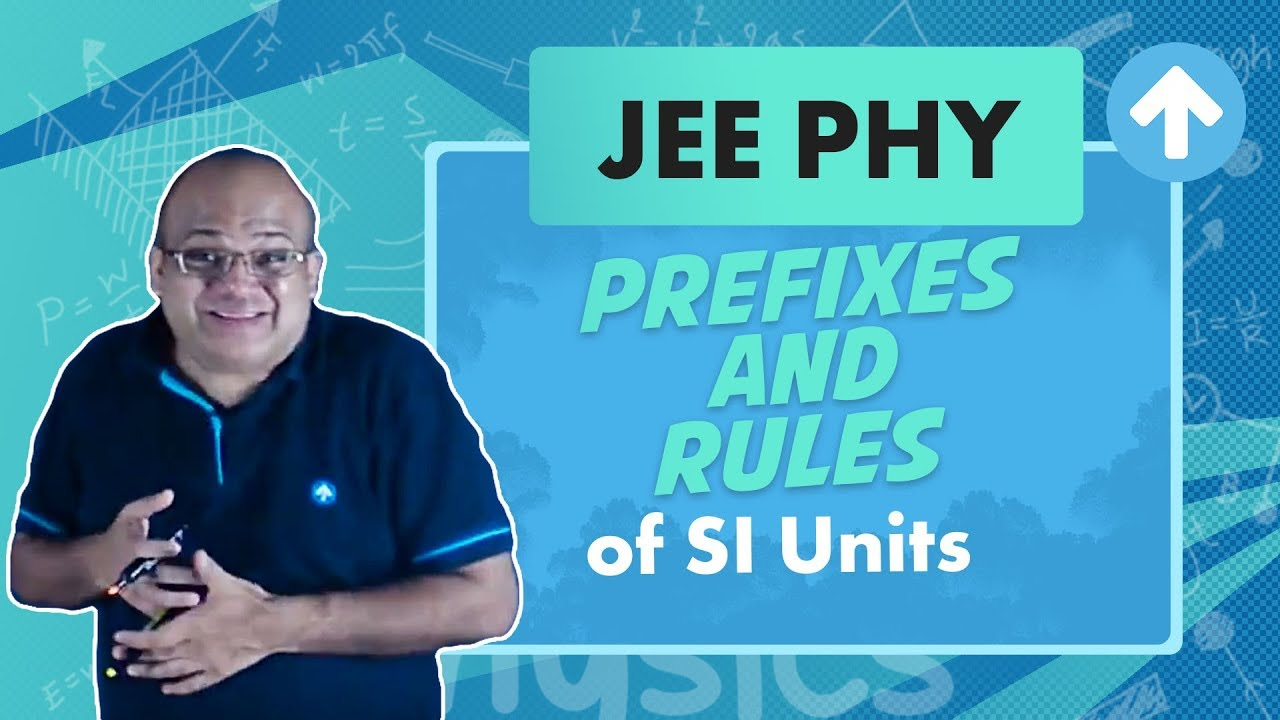 Prefixes and Rules of SI Units   Jee Physics   Units and Dimensions   English
