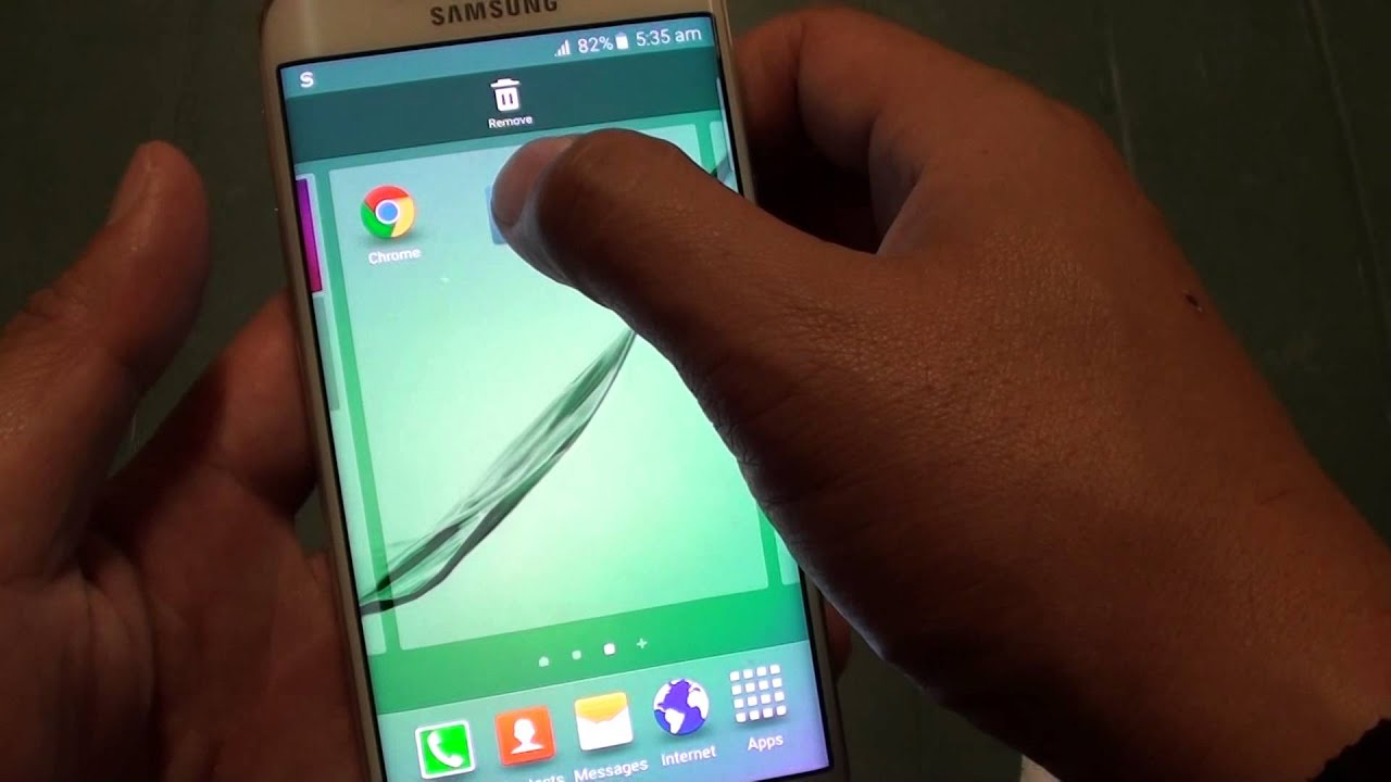 Samsung Galaxy S6 Edge: How To Remove Unwanted Apps Icon From Home Screen
