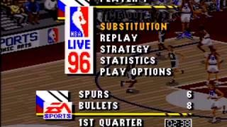 NBA Live 96 (SNES) Bullets V Spurs