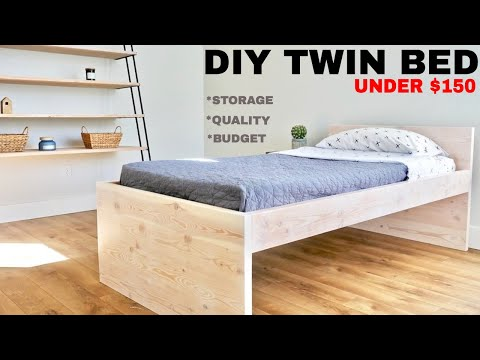 DIY Twin Low Loft Bed