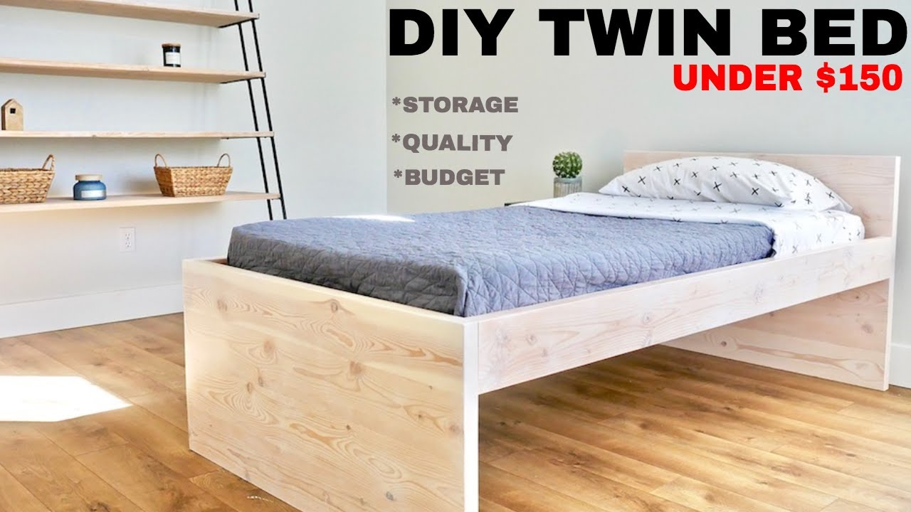 Diy Twin Low Loft Bed Youtube