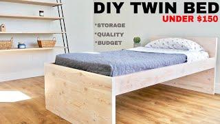 DIY Twin Low Loft Bed