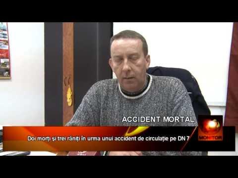 Doi morţi şi trei răniţi în urma unui accident de circulaţie pe DN 7