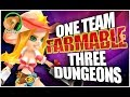 SUMMONERS WAR : ONE *Farmable* Team, All 3 Dungeons!