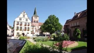 Turckheim à l'entrée de la vallée de la Fecht en Alsace