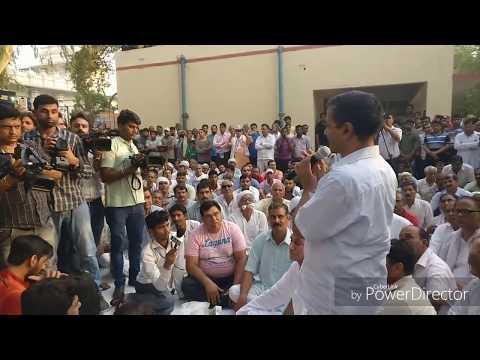 दिल्ली मुख्यमंत्री अरविंद केजरीवाल का लैंड-पुलिंग पॉलिसी पर छावला गांव में किसानों के साथ सीधा संवाद