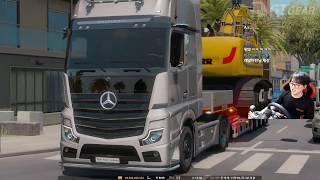 (생)레알마틴님의 유로트럭 오버사이즈 52톤 굴삭기 운…
