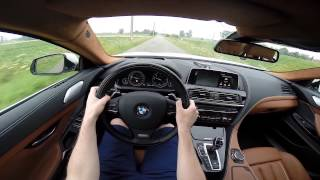 2015 BMW 6 Series Gran Coupé 640d xDrive 313bhp POV test drive GoPro
