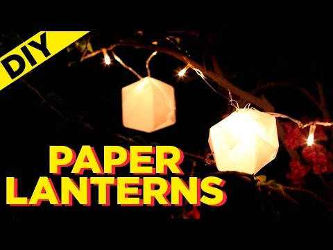 DIY Paper Lanterns | How to Make String Lanterns out of Paper | Indi In the City