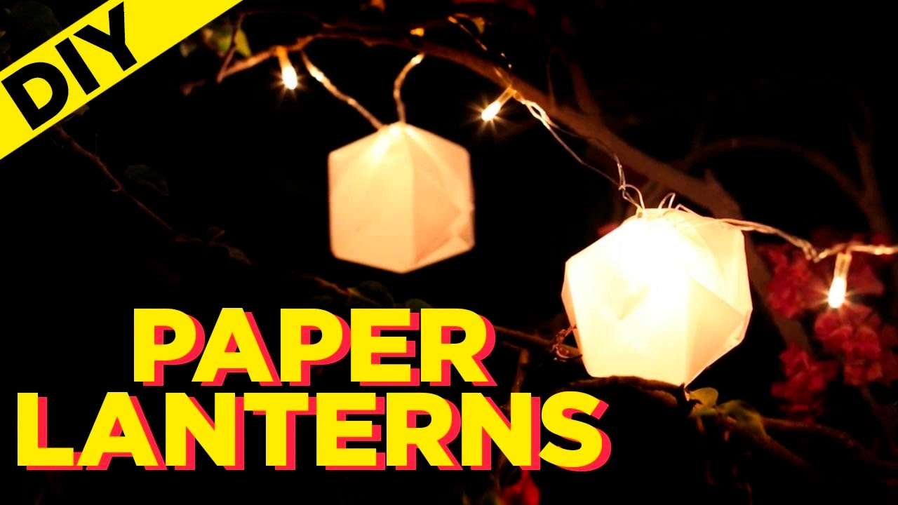 Diy Paper Lanterns How To Make String Out Of Indi In The City You