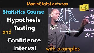 Hypothesis Test and Confidence Interval | Statistics Tutorial #15 | MarinStatsLectures