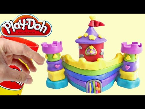 Play Doh Rainbow Castle Princess Stop Motion Animations Videos for Kids