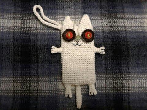 Чехол кот вязанный крючком