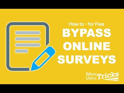 How To Bypass Online Surveys For Downloads