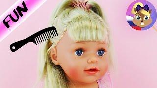 Старшая сестра BABY BORN примеряет новые прически   Демонстрация сестренки Бейби Борн