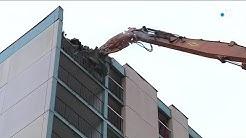 Chenôve : la tour Renan est démolie dans le quartier du mail