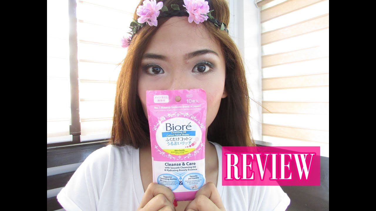 Biore Make Up Remover Cleansing Oil Sheet Refill Daftar Update 150ml Cotton Facial Sheets First Impression Review Youtube