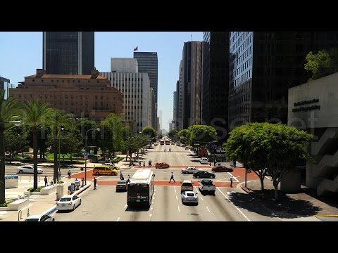 A Walk Up Flower Street, Downtown Los Angeles